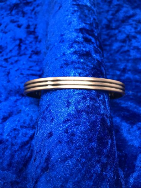 Pure Copper Line Detail Magnetic Bangle